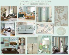 Classic duck egg blue living room design