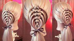 An amazing hairstyle by Elena Ragavaya, Russia! - The HairCut Web Pretty Hairstyles, Braided Hairstyles, Short Hairstyles, Thin Straight Hair, Hair Due, Hair Locks, Different Hairstyles, Love Hair, Hair Videos