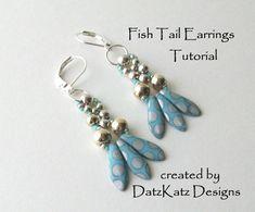 TUTORIAL Fish Tail Earrings Fun dangle earrings by DatzKatz