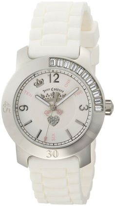 Juicy Couture Women's 1900548 BFF White Jelly Strap Watch #JUICYWATCHES #JUICYWOMEN #WOMENSWATCHES #AMAZONSHOPPING #MULTIWATCHBRAND
