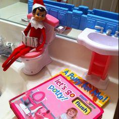 Potty Break. So cute help your kids potty train with elf on the shelf!