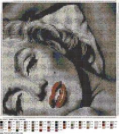 Schema punto croce marilyn monroe   Hobby lavori femminili - ricamo - uncinetto - maglia