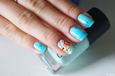 Nail art Bob l'éponge - Gary --- Sponge Bob Nail Design - Gary