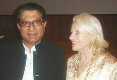 Deepak Chopra and Sylvia Atkins.  Photo by:  Paul Firestone
