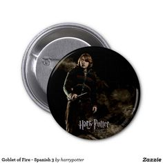 Goblet of Fire - Spanish 3 2 Inch Round Button