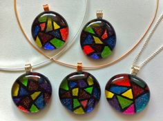 Faux Stained Glass Pendant #howto #tutorial