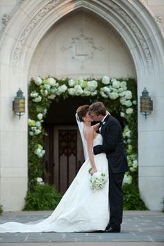 Hydrangea blossoms and greenery around the church door for a wedding- very pretty. Wedding Wishes, Wedding Pics, Summer Wedding, Wedding Flowers, Wedding Ideas, Chapel Wedding, Wedding Bells, Wedding Ceremony, Wedding Planner