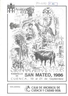 """San Mateo 1986, del 18 al 21 de septiembre En la Iglesia de San Miguel se celebra el acto """"Cultural San Mateo"""" con entrega de diversos premios de dibujo y literarios #FiestasPopulares #Cuenca #SanMateo"""