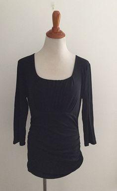 b46d48ff232 classiques entier atelier silk blend blouse floral black background sz L