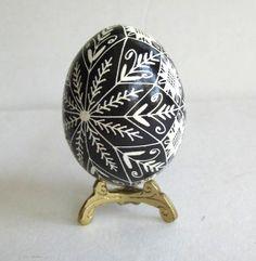 I like a black and white egg