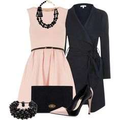 """""""Black and Blush"""" by vanessa-bohlmann on Polyvore"""