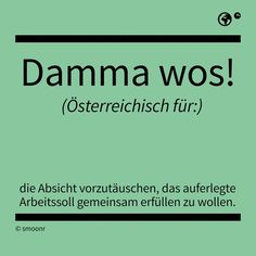 Damma wos! The Words, Mind Thoughts, What Is Meant, Man Humor, True Stories, Austria, Work Hard, Wisdom, Lettering