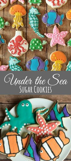 Under the Sea cookies/birthday parties/ocean themed birthday party/ocean animals/ fish cookies/ finding nemo/ dory/birthday parties/ 1 dozen #affiliate
