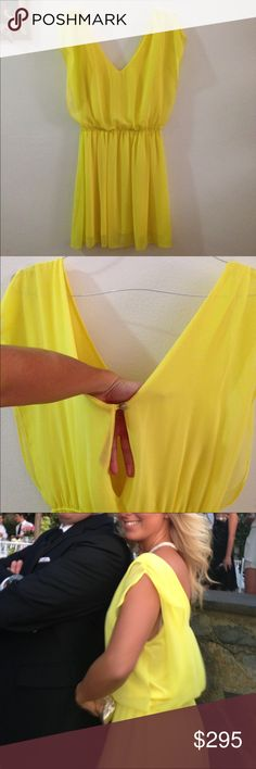 Stunning Yellow 213 Silk Dress Purchased from Mykonos from one of those Poshy stores. The brand is 213. Soooo beautiful. The color , the style of the dress, everything. This is one of the items that I will cry after they leave me 😌😊 Worn just once and in like brand new condition. 213 Dresses Mini