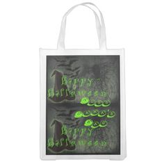 Personalized Halloween Bag. Reusable Grocery Bags
