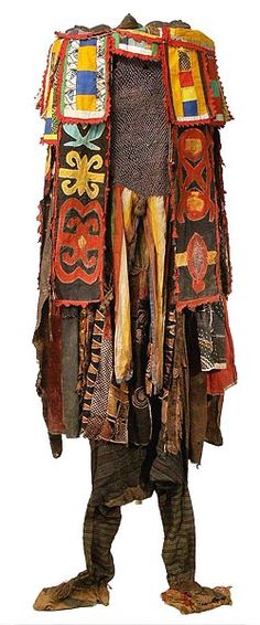 Africa | Egungun (Part of the Yoruba pantheon of divinities) Costume.