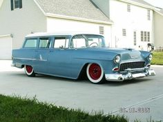 1955 Chevy Wagon...  This was my car after high school.  Brings back good memories.
