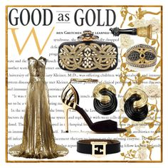 A fashion look from July 2015 featuring open-back dresses, gold clutches and onyx earrings. Browse and shop related looks. Anna Sui, Emilio Pucci, Fendi, Shoe Bag, Polyvore, Stuff To Buy, Design, Women, Fashion