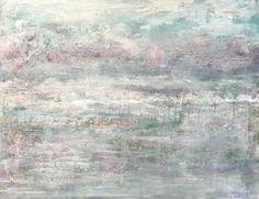 Artist Jenny King silver oak wine mixed media abstract beautiful painting