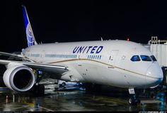 Photo taken at Shanghai - Pudong International (PVG / ZSPD) in China on March Boeing 787 Dreamliner, Boeing 787 8, Boeing Aircraft, Airplane Fighter, United Airlines, Aircraft Pictures, Shanghai, Airplanes, Fighter Jets