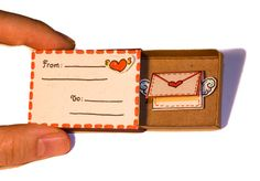 Anniversary Love Card I love you Matchbox / Gift box / door shop3xu