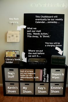 Home organization station command centers calendar 53 trendy ideas Organization Station, Entryway Organization, Home Organisation, Life Organization, Family Organization Wall, Household Organization, Organizing Life, Family Command Center, Command Centers