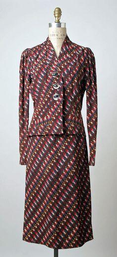 Suit, fall 1938. Elsa Schiaparelli (Italian, 1890–1973).