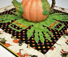 CIJ Free Ship Halloween Table Topper Monster by atthebrightspot, $65.00