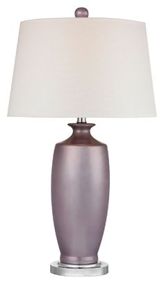 "Dimond D2527 Hamisham - Lilac Luster Lilac Luster With Polished Nickel Finish 27"" Tall LED Lighting Table Lamp - DIM-D2527"