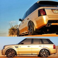 Explore the golden path to discovery. - The GL-3 Dynamic taillight is exclusively available at www.glohh.com - #glohh #rangeroversport #rangerover #landrover #led #taillight #rrs #gold #uae #dubai #offroad