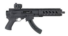 ATI's Pistol Stock System features a Polymer Receiver Chassis and Pistol Grip, as well as a Aluminum Free-Float Forend with an Nosecone. Ruger 22 Pistol, Ruger 10/22, Personal Defense, Self Defense, Shooting Equipment, Shot Show, Guns And Ammo, Weapons Guns, Assault Rifle