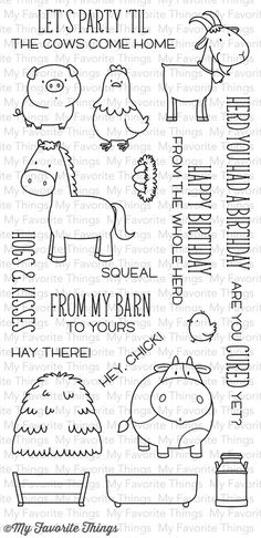 My Favorite Things THE WHOLE HERD Clear Stamps BB18 zoom image