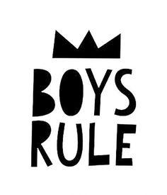 Mini Learners boys rule poster A3