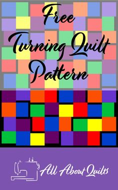 Free quilt pattern ideal for the beginner quilter. Quilting Designs, Quilt Design, Show Case, Quilt Patterns Free, Turning, Projects To Try, Fabrics, Challenges, 52 Weeks