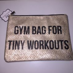 """NEW Gold Metallic Zip Bag NEW Gold Metallic Zip Bag So Fun For Gym Bag, Make Up or Tanning Lotions Great Gift Idea 11 1/2"""" W X 8 1/2"""" H. Firm price Mirror Mirror Bags Cosmetic Bags & Cases"""