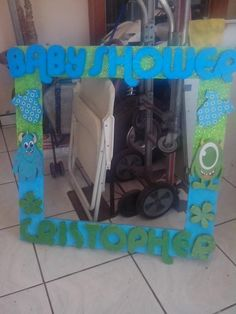 MONSTER INC BABY photo frames styrofoam https://www.facebook.com/creaciones-PAMELA-248310258557219/ muestras sin compromiso .