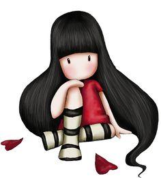 Risultati immagini per abecedario gorjuss png Cute Images, Cute Pictures, Santoro London, Foto Transfer, Digi Stamps, Cute Illustration, Cute Art, Painting & Drawing, Chibi