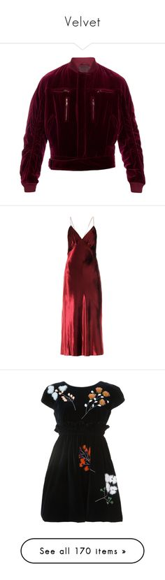 """""""Velvet"""" by jckyleeah ❤ liked on Polyvore featuring jackets, outerwear, dresses, gowns, gown, long dresses, red dresses, burgundy, long red dress and red velvet gown"""