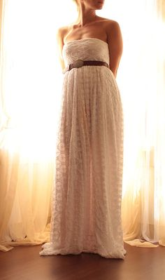 Wedding Dress Rustic Bohemian Romantic In Lace by whiteromance, $199.00