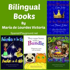 Bilingual books for kids: these kids books in Spanish and English are fun children's books for speakers of either language and also great language learning tools! http://spanishplayground.net/bilingual-childrens-books-maria-victoria/
