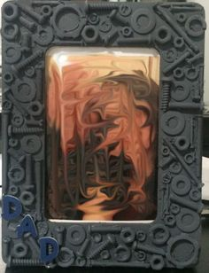 Father's Day Picture Frame - made with nuts and bolts