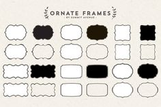 Check out Ornate Decorative frames by Summit Avenue on Creative Market
