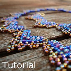 Hearts Necklace Beadwork Pattern/Tutorial  Instant by BearlyBeaded, £3.50