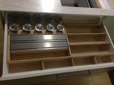 Build this into draws - cling wrap dispenser & alfoil