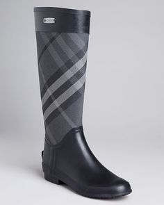 Burberry Rain Boots - Clemence Check Burberry Rain Boots, Designer Boots,  Heeled Boots, 7f9abc0170d