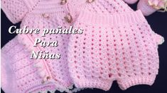 Crochet Baby Bloomers, Crochet Girls Dress Pattern, Crochet Baby Cardigan, Baby Girl Crochet, Crochet Baby Clothes, Crochet For Kids, Easy Crochet, Crochet Patterns, Baby Shorts