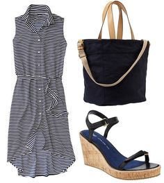 A wardrobe essential, this classic shirt-dress from Gap makes the quick-change transition from work-week to weekend. Top with a boyfriend blazer for the office and slip into wedges for Saturday brunch.