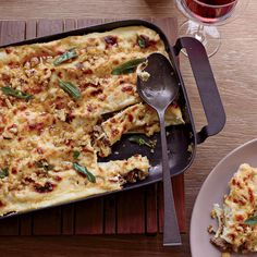 Cannelloni with Walnuts and Fried Sage // More Delicious Baked Pastas: http://www.foodandwine.com/slideshows/baked-pasta-dishes #foodandwine