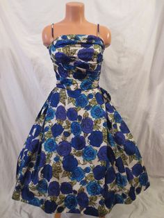 BLUE CHRISTMAS vintage silk cocktail dress - $65 at JOHNNY BOMBSHELL #vintage get 20% off in my Etsy store with coupon code THX2013 (good til Dec 3)
