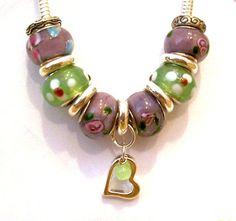 Pandora Style Jewelry Charm Bracelet by CreationsByJanetUSA, $15.00